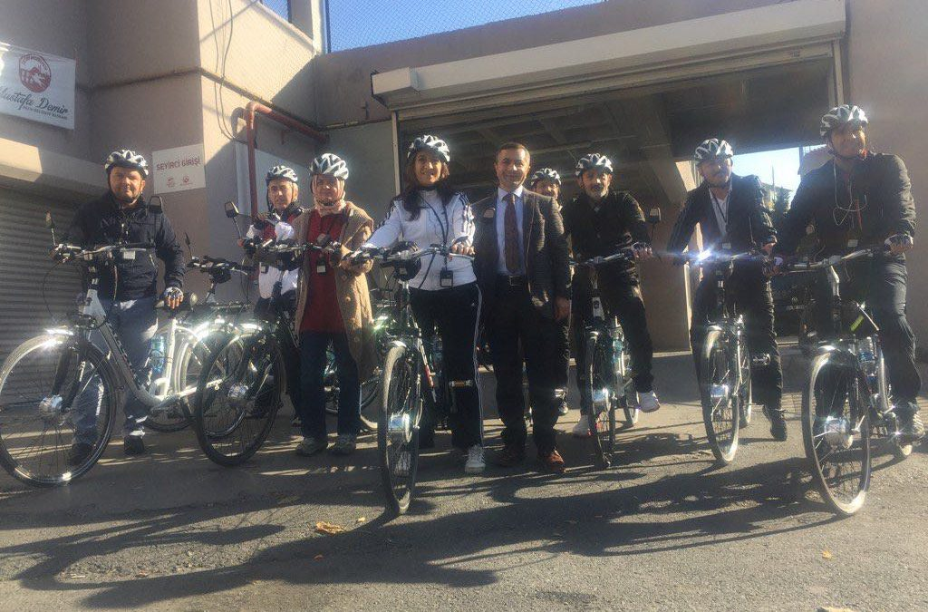 Meclis üyelerimizin startıyla başlayan Tarihi Yarımada Bisiklet Turu'na katıldık.